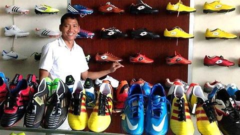 Cầu thủ Anh Đức có hàng chục cửa hàng đồ thể thao của riêng mình. Nguồn: Facebook.