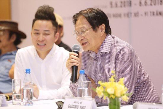 Ca sĩ Tùng Dương và nhạc sĩ Dương Thụ.
