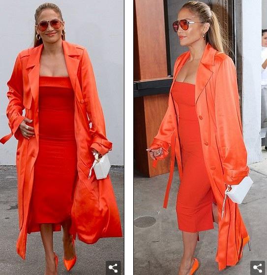 Diva đa tài rực rỡ xuất hiện với trang phục cam bắt mắt