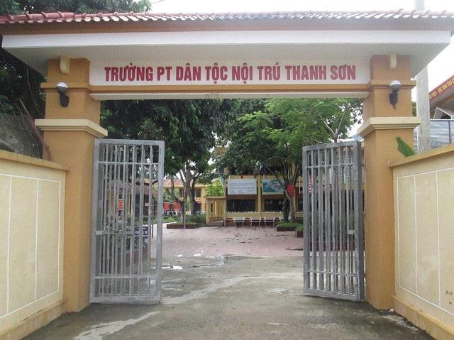 rường phổ thông dân tộc nội trú THCS huyện Thanh Sơn (Ảnh: CTV).