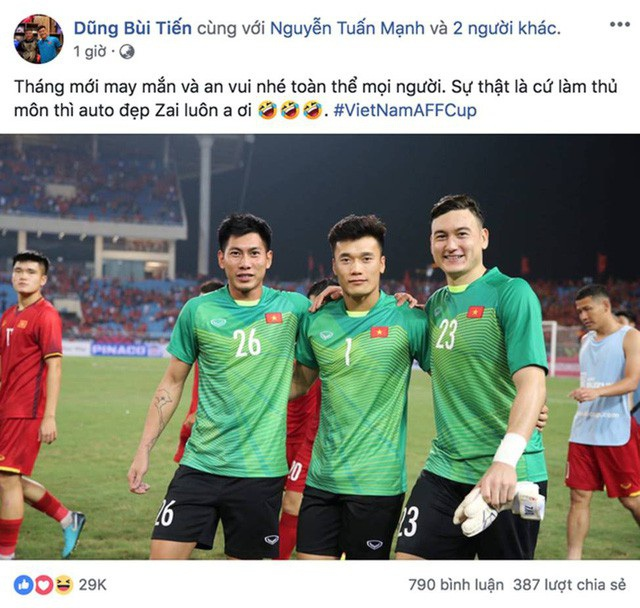Nếu như sau giải U23 Châu Á, Bùi Tiến Dũng nổi lên với tên gọi là thủ môn quốc dân, thì ở AFF Cup, Đặng Văn Lâm lại chính là cái tên được hội chị em tìm kiếm nhiều nhất.