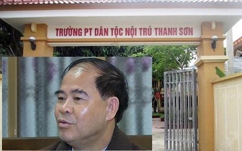 Ông Đinh Bằng My - hiệu trưởng trường Phổ thông dân tộc nội trú Thanh Sơn.