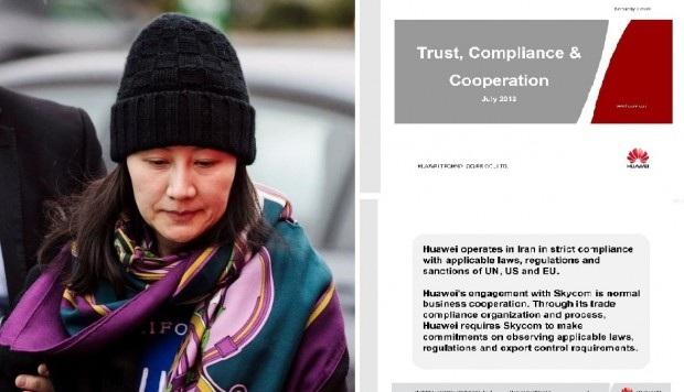 Giám đốc tài chính Huawei Mạnh Vãn Chu bị giới chức Canada bắt giữ theo đề nghị của Mỹ với cáo buộc lừa đảo nhiều ngân hàng quốc tế để lách lệnh trừng phạt của Mỹ và EU lên Iran giai đoạn 2009-2014. (Ảnh: AFP)