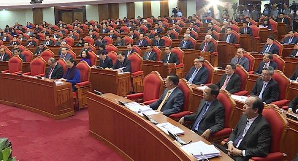 Các đại biểu tham dự Hội nghị lần thứ 8 Ban Chấp hành Trung ương Đảng khóa XII. (Ảnh: TH)