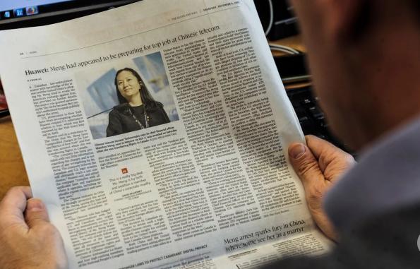 Vụ bắt giữ giám đốc tài chính Huawei khiến quan hệ Mỹ-Trung thêm căng thẳng. (Ảnh: AFP)