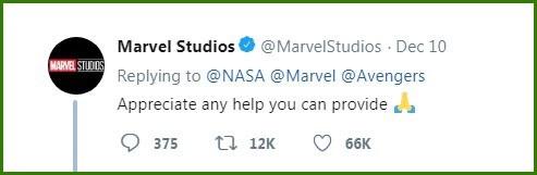 """Marvel cảm ơn sự """"chu đáo"""" của NASA"""