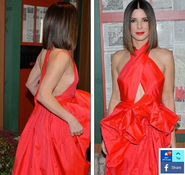 Nữ diễn viên 54 tuổi diện bộ váy đỏ rực rỡ trị giá hơn 4000 USD của NTK Martin Grant