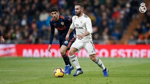 Carvajal ghi dấu ấn giúp Real Madrid có được bàn mở tỷ số