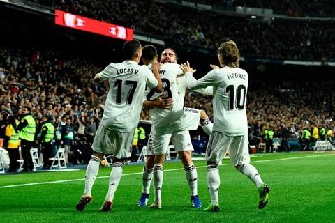 Real Madrid tạm thời vươn lên vị trí thứ 5 tại La Liga