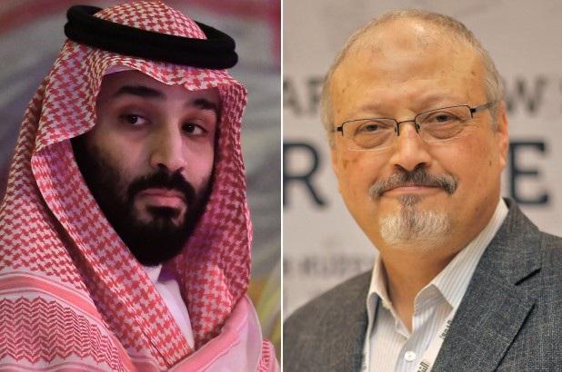 Thái tử Mohammed bin Salman và nhà báo Khashoggi. (Ảnh: Getty)