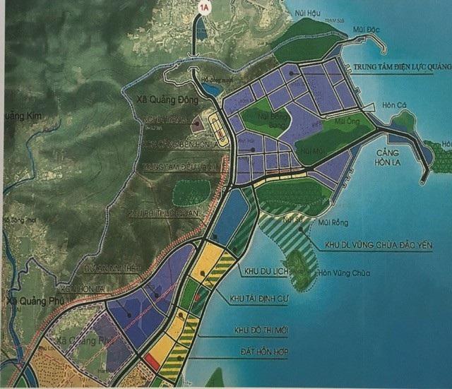Bản đồ vị trí xây dựng trung tâm Nhà máy nhiệt điện Quảng Trạch