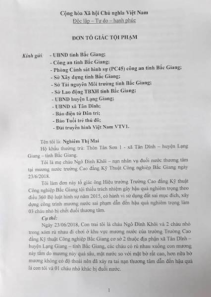 3 cháu bé chết đuối oan ức tại Bắc Giang: Thủ phạm có thoát tội ngoạn mục? - 3