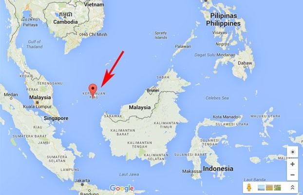 Quần đảo Natuna nằm ở rìa phía nam Biển Đông (Ảnh: Google map)