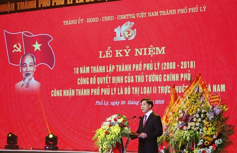 Công bố Quyết định của Thủ tướng công nhận Phủ Lý là đô thị loại II - Ảnh 2.