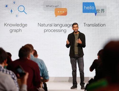 Giám đốc điều hành Công ty Google, ông Sundar Pichai là một người nhập cư từ Ấn Độ. Ảnh: REUTERS