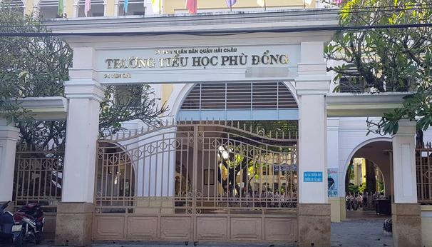 Trường Tiểu học Phù Đổng, Đà Nẵng - nơi xảy ra vụ việc.