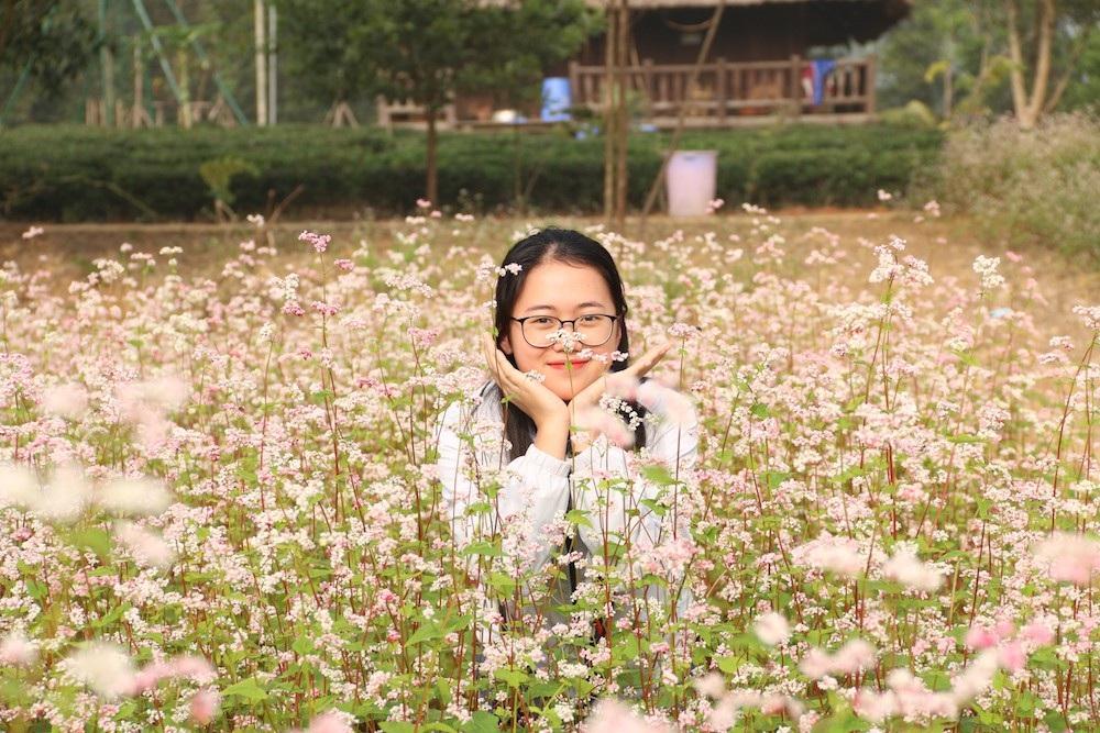 Vườn hoa tam giác mạch 5.000 m2 ở Hà Nội thu hút người tham quan - Ảnh 7.