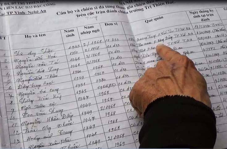 Bản danh sách 120 liệt sĩ và nỗi day dứt của thiếu tá đặc công đất lửa - Ảnh 8.