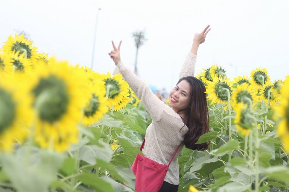 Giới trẻ Sài thành phát cuồng với vườn hoa hướng dương khổng lồ - Ảnh 3.