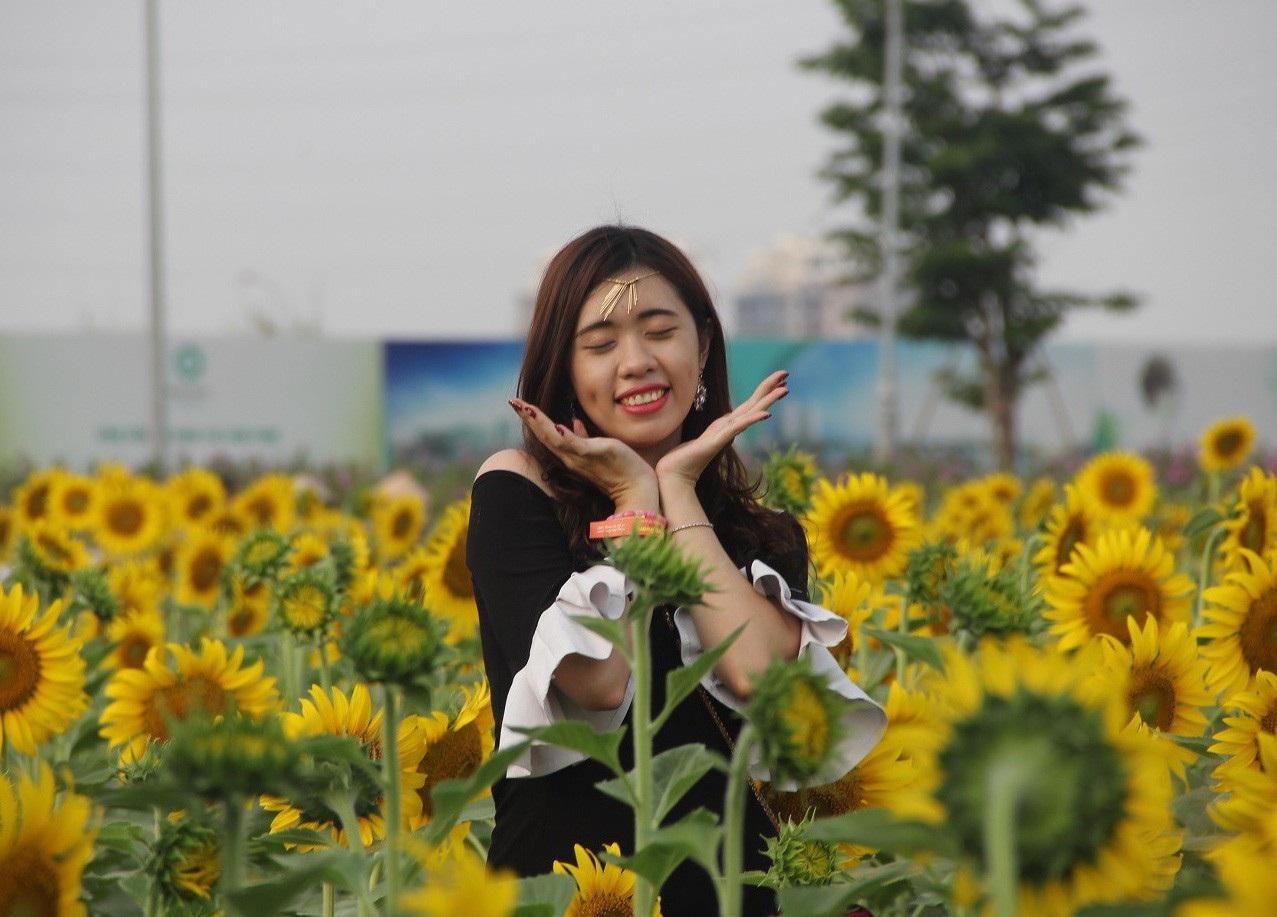Giới trẻ Sài thành phát cuồng với vườn hoa hướng dương khổng lồ - Ảnh 5.