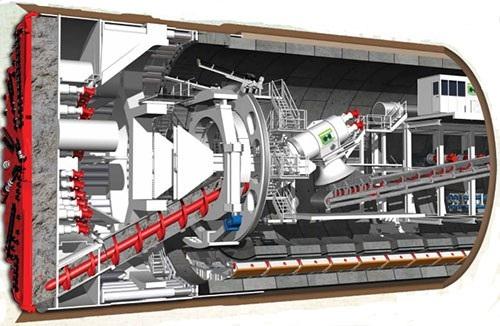"""""""Quái vật"""" trăm tấn của Ý đào hầm đường sắt Nhổn - ga Hà Nội - Ảnh 2."""