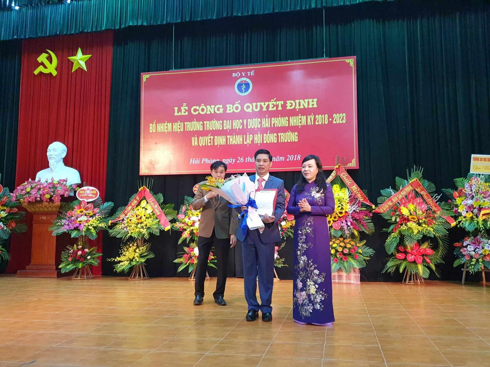 Công bố ứng viên điểm cao nhất trúng cử Hiệu trưởng Trường ĐH Y dược Hải Phòng - Ảnh 1.