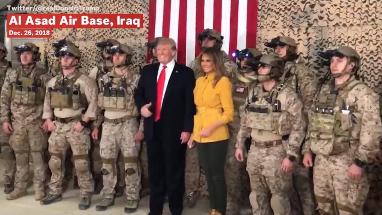 Ông Trump vô tình làm lộ thông tin quân sự nhạy cảm trong chuyến thăm Iraq? - Ảnh 2.