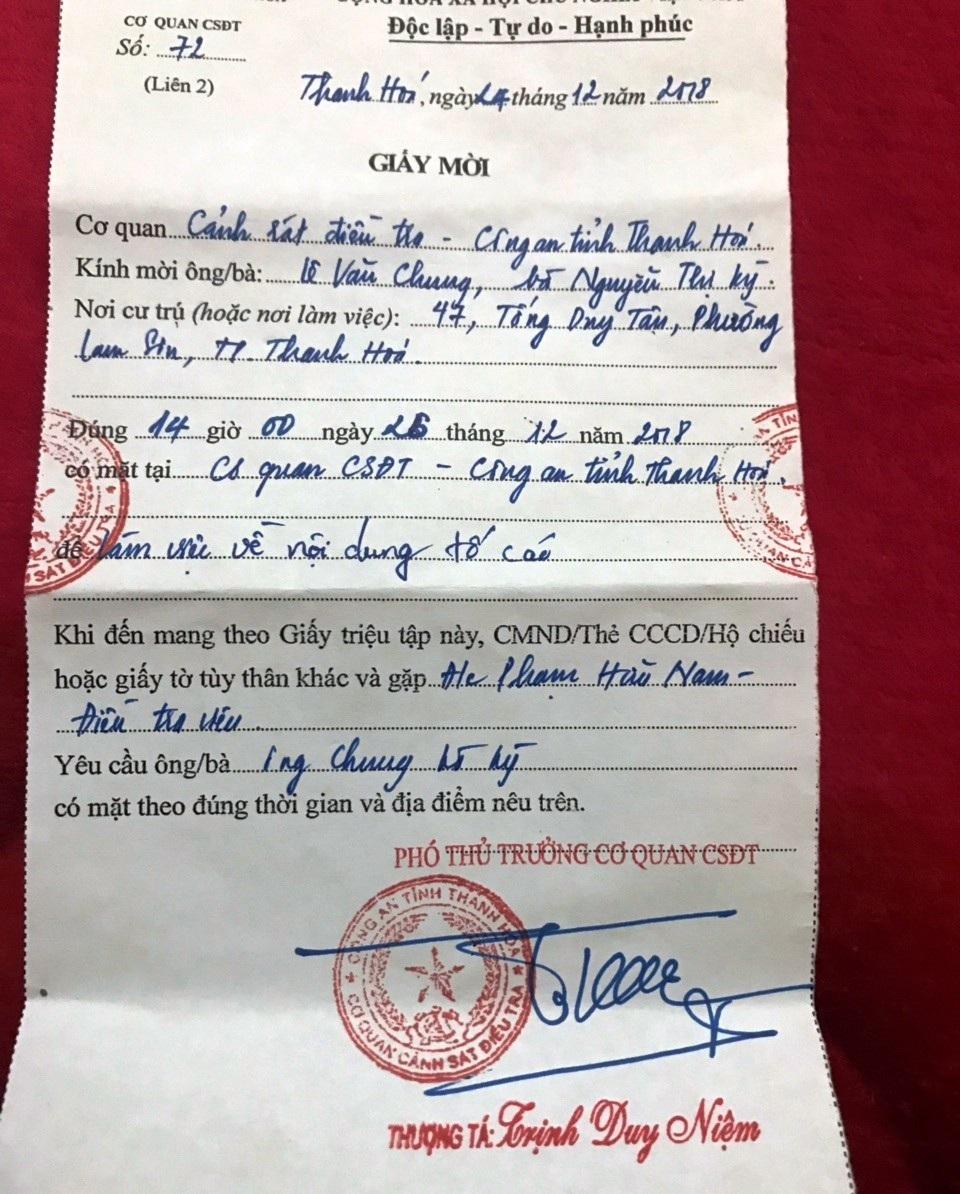 Ly kì án một thửa đất cấp 4 sổ đỏ: Chờ quyết định từ Công an tỉnh Thanh Hoá! - Ảnh 1.