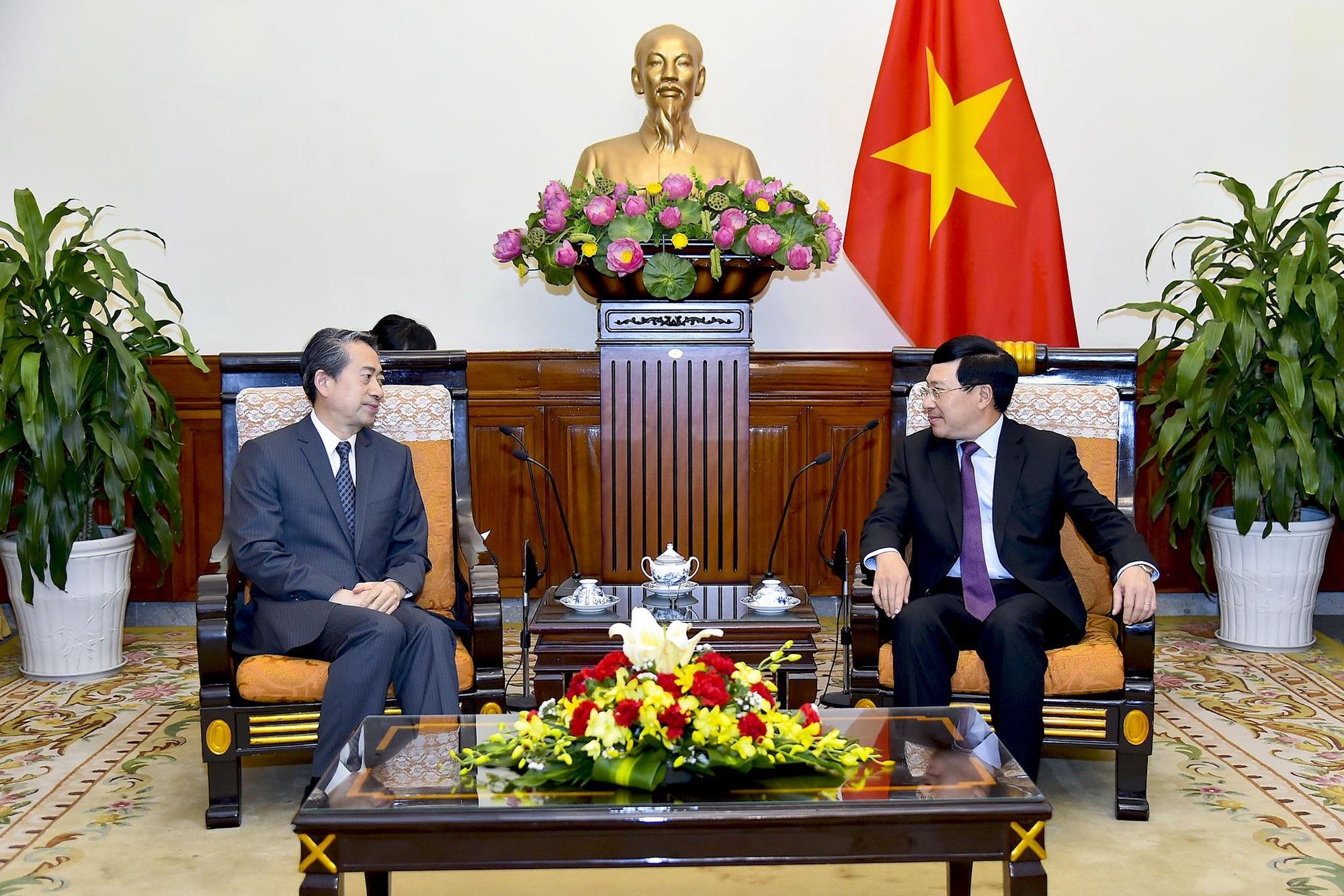 Phó Thủ tướng Phạm Bình Minh tiếp tân Đại sứ Trung Quốc tại Việt Nam - Ảnh 1.