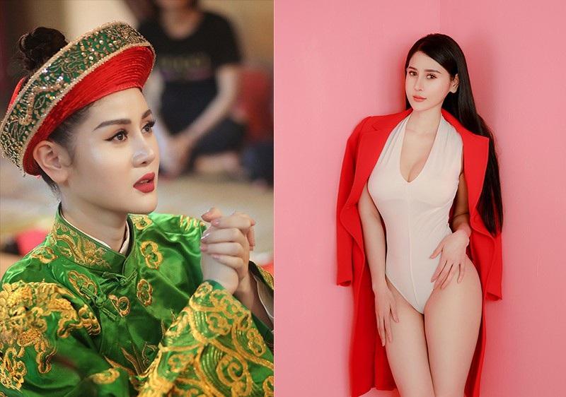 Cô đồng gợi cảm Triệu Hà Vy khoe khéo vòng eo con kiến - Ảnh 1.