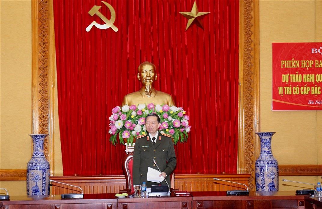Bộ Công an có không quá 6 Thứ trưởng đeo hàm Thượng tướng - Ảnh 1.
