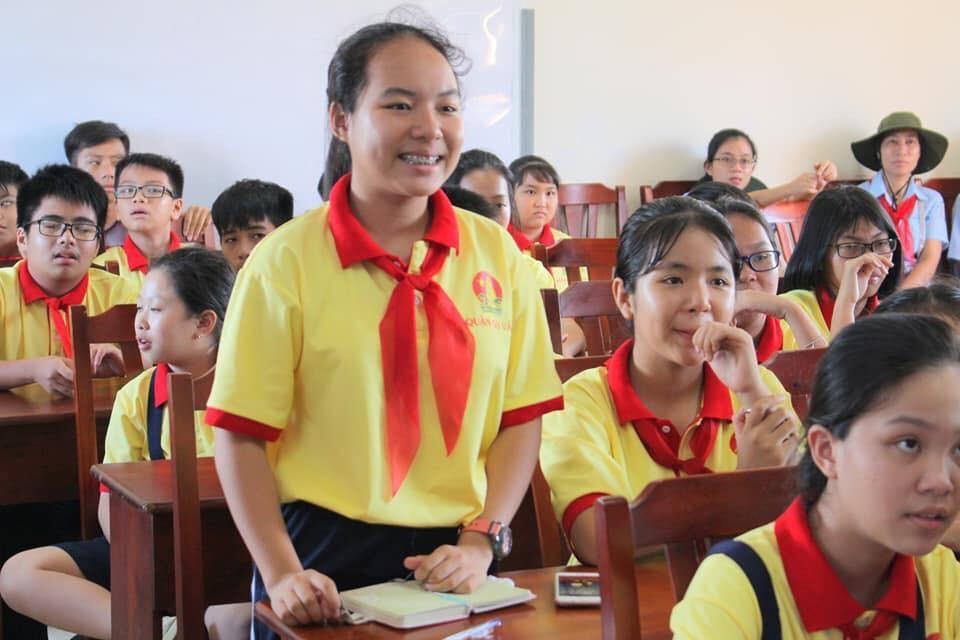 Nữ sinh 13 tuổi là một trong 9 gương mặt Công dân trẻ tiêu biểu TPHCM 2018 - Ảnh 1.