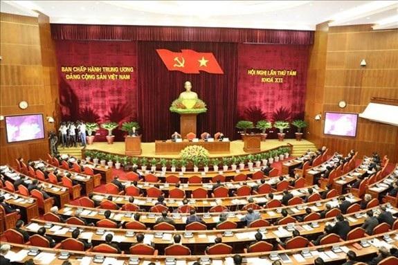 Toàn cảnh Hội nghị lần thứ 8, Ban Chấp hành Trung ương Đảng khóa XII khai mạc. Ảnh: TTXVN