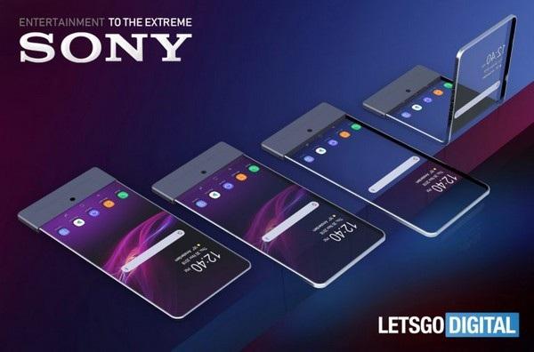 Bản dựng chiếc smartphone có thể gập được dựa trên bằng sáng chế của Sony