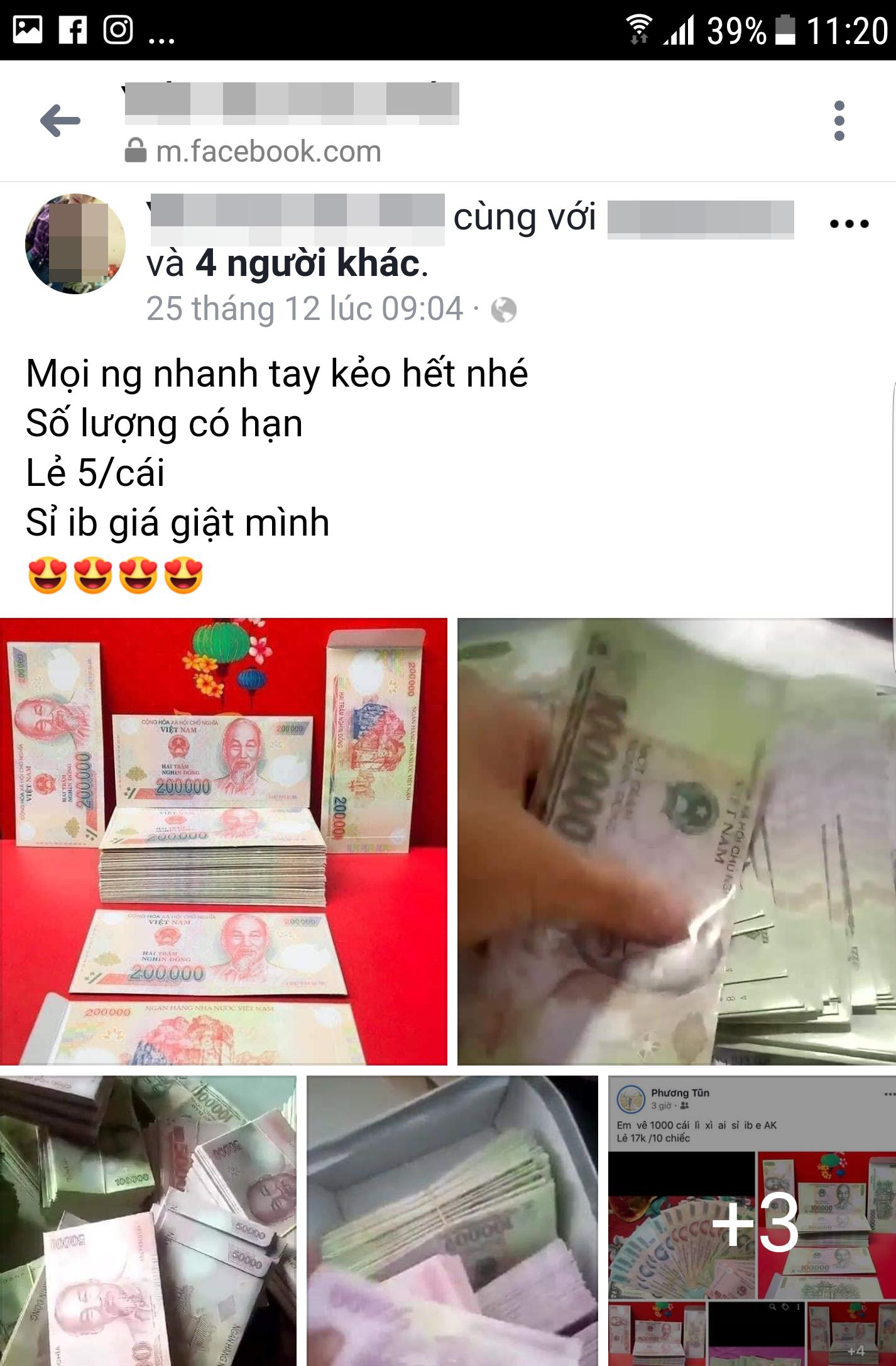 Dùng bao lì xì in hình tiền Việt Nam có vi phạm pháp luật? - Ảnh 1.