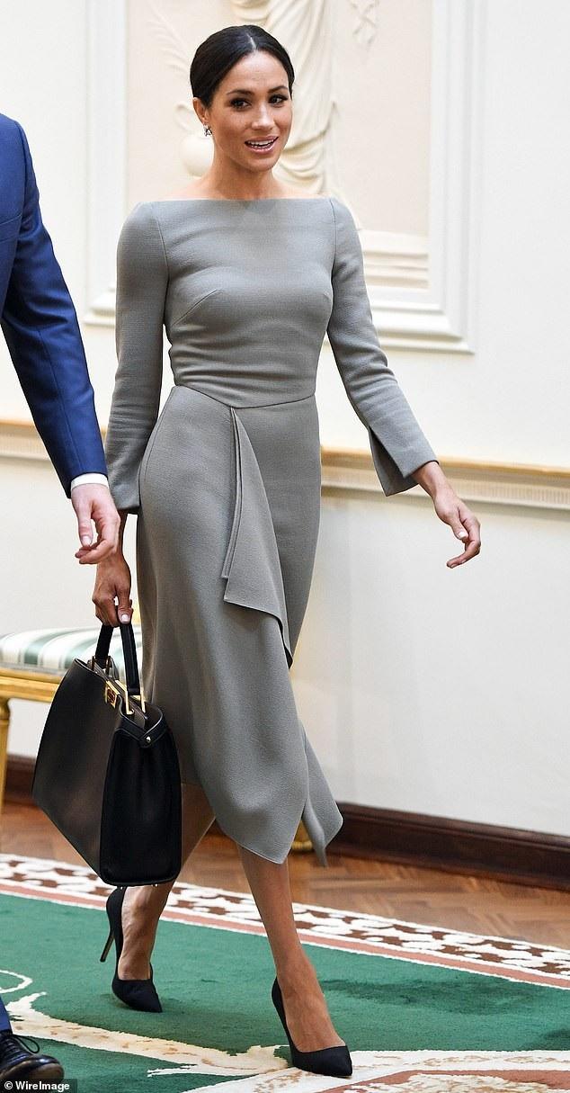 Meghan và chiếc túi Fendi giá 3,850 bảng Anh