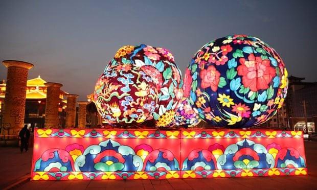 Triển lãm đèn lồng ở Tây An, Trung Quốc. (Ảnh: Rex)