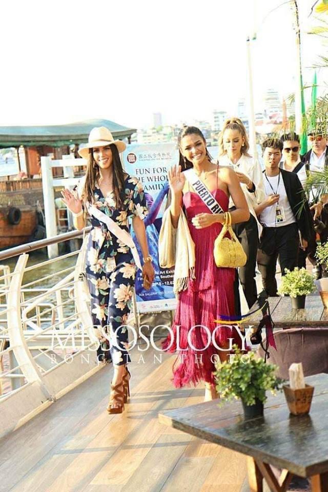 Mỹ nhân hoa hậu hoàn vũ 2018 hội tụ tại Thái Lan - 29