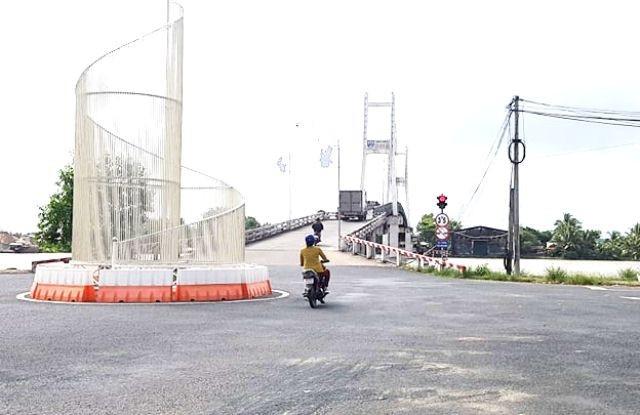 Cầu Rạch Ráng bắc qua sông Ông Đốc (huyện Trần Văn Thời, tỉnh Cà Mau). (Ảnh: CTV)