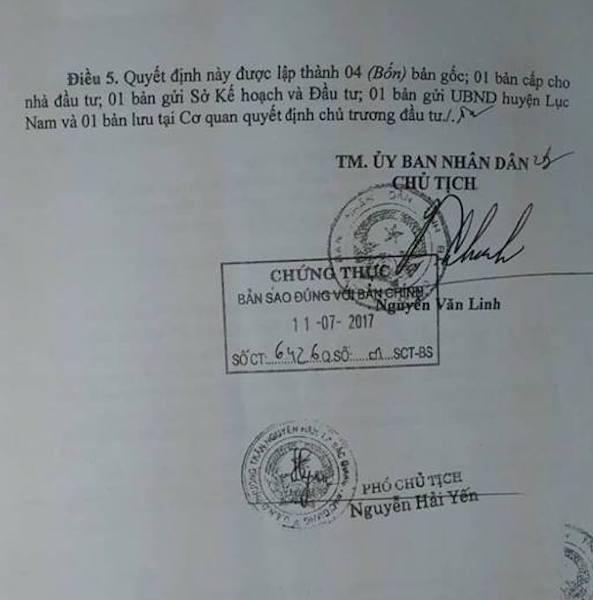 Quyết định chủ trương đầu tư do Chủ tịch UBND tỉnh Bắc Giang Nguyễn Văn Linh ký bị doanh nghiệp qua mặt để trục lợi.