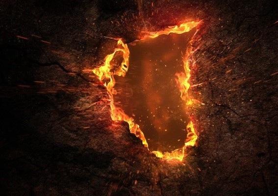 Cái hố tạo ra ngọn lửa cao tới 3,6 m (Ảnh minh họa)