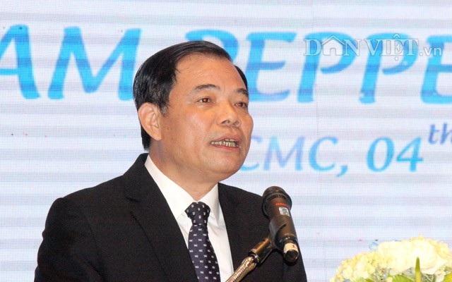 Bộ trưởng Nguyễn Xuân Cường phát biểu tại Hội nghị....