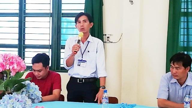 Thầy Hồ Văn Khánh nhận và bỏ qua sau khi ông Hùng thay mặt gia đình nhận lỗi.