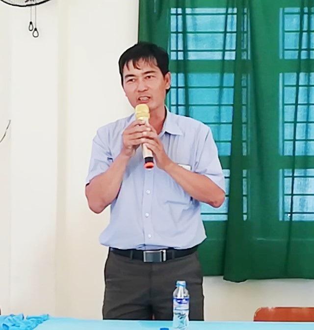 Ông Nguyễn Quốc Hùng (chồng bà Ánh) đại diện gia đình gửi lời xin lỗi đến thầy Hồ Văn Khánh và nhà trường.