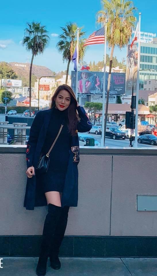 Nữ diễn viên Trương Ngọc Ánh đi du lịch ở Mỹ.