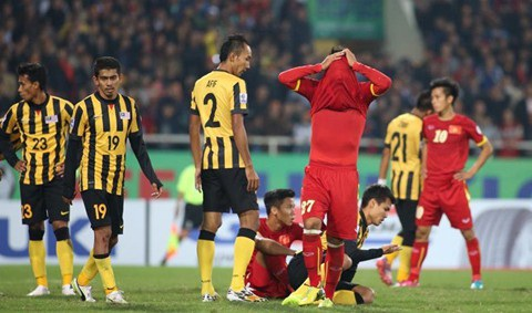 Đội tuyển Việt Nam từng bị Malaysia lội ngược dòng ở bán kết AFF Cup 2014
