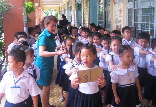 Áp lực sĩ số ở các trường học TPHCM là rất lớn, đặc biệt ở cấp tiểu học (ảnh: Hoài Nam)