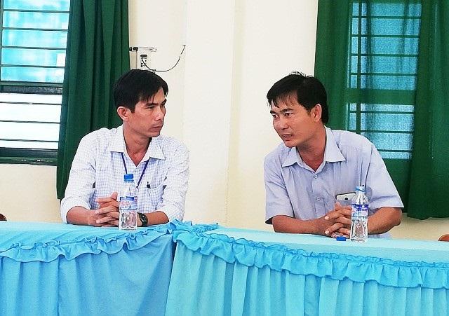 Thầy Hồ Văn Khánh (trái) được xác định không sai trong trường hợp này.
