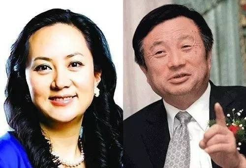 Meng Wanzhou được cho là người sẽ thay cha mình, nhà sáng lập Huawei Rend Zhengfei (phải) ngồi vào chiếc ghế CEO của công ty