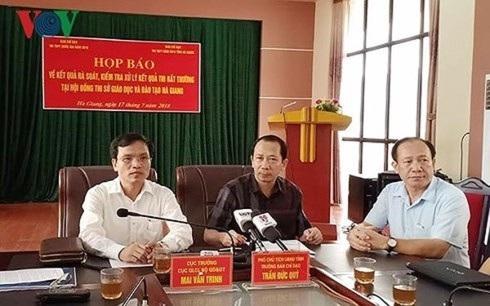 Bộ GD-ĐT họp báo, công bố kết quả rà soát điểm thi THPT Quốc gia năm 2018 bất thường ở Hà Giang.